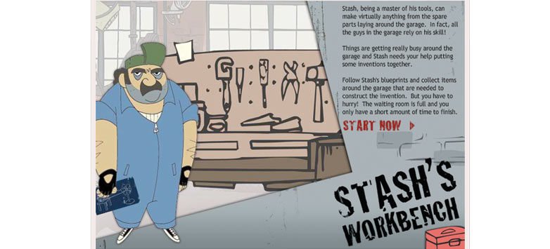 Stash's Workbench Game