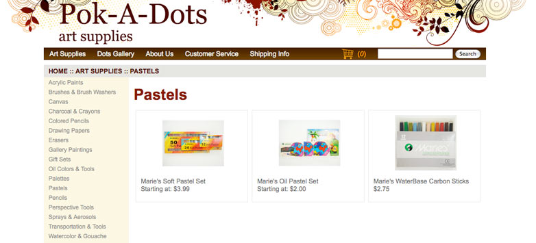 Pok-a-Dots Art Supplies